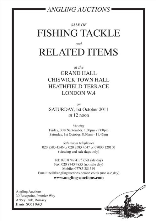 Angling auctions catalogue October 2011