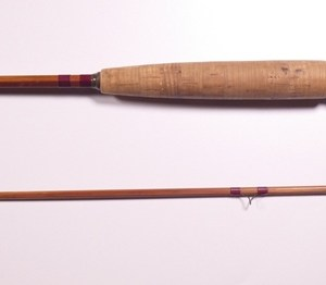 """An Orvis """"99"""" 2 piece impregnated cane brook trout fly rod,"""