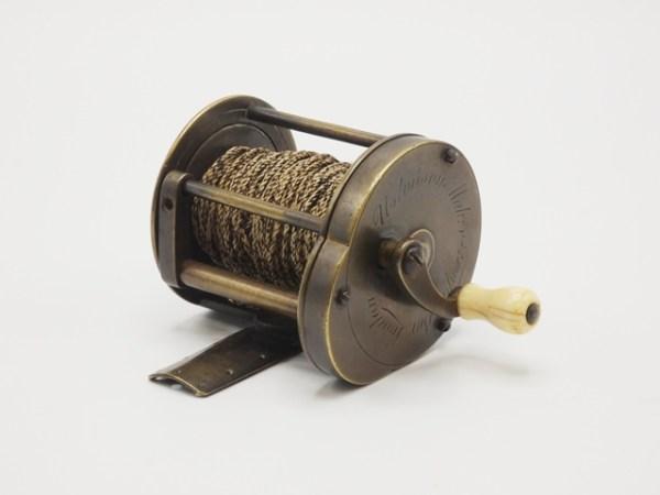 The Graham Turner Ustonson wide drummed multiplying brass winch,