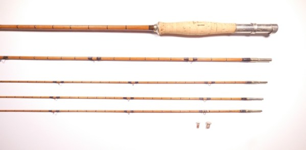 An H.L. Leonard (Leonard & Mills Co.) 3 piece (3 tips) cane trout fly rod,