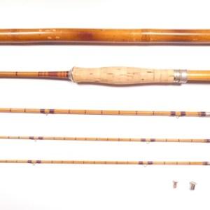 An H.L. Leonard (Leonard & Mills Co.) 3 piece (2 tips) cane brook trout fly rod,