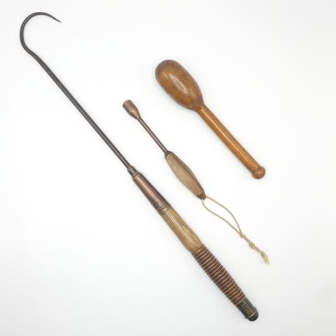 A 19th Century boatman's salmon gaff,
