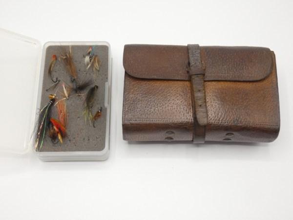 A Wheatley pigskin fly wallet