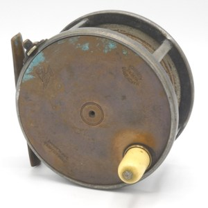 """A Hardy Brass Faced Perfect 4 ¼"""" salmon fly reel,"""