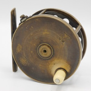 """A Hardy 1896 Brass Perfect 4"""" salmon fly reel,"""