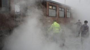 Ångvärmen värmer tåget!