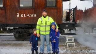 Trevliga resenärer i Liljeholmen