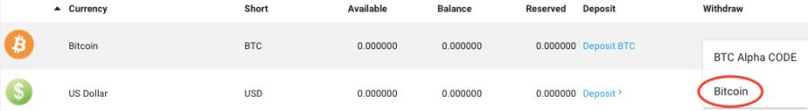 BTCalphaの出金方法