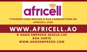 7 Passos para enviar Candidaturas na Africell Angola 2021