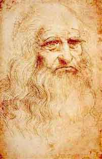 Leonardo Disegno - autoritratto sanguigna