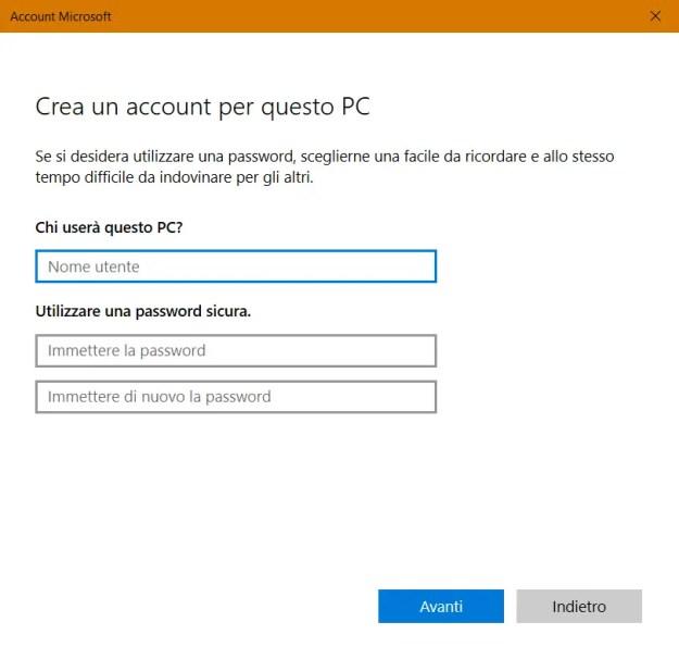 utente04 - Windows: come creare un nuovo account utente