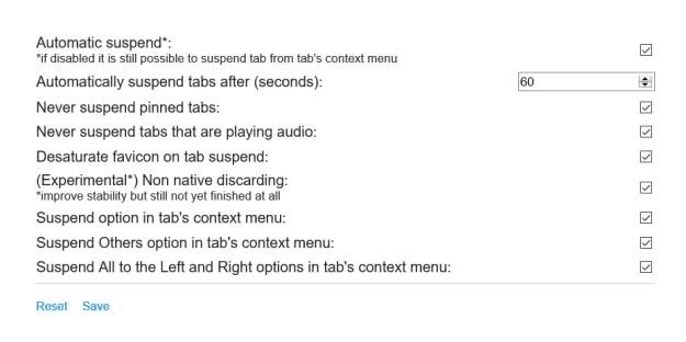 tabsospese03 - Come sospendere le tab in Chrome, Firefox e MS Edge