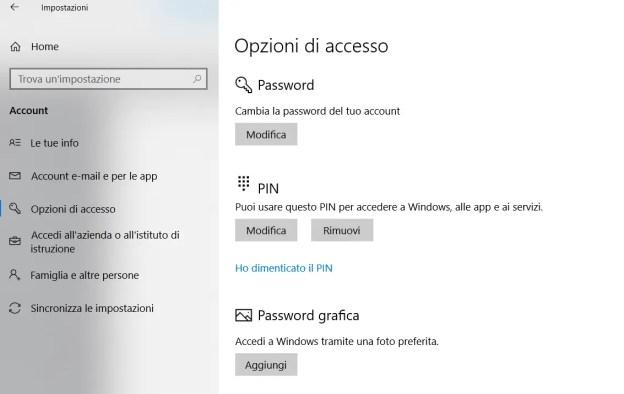 FIX Come fare il reset al PIN di accesso in Windows 10