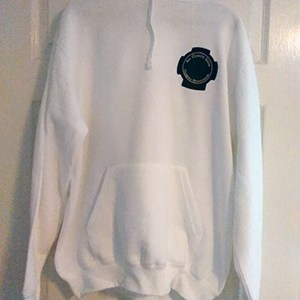 pullover hoodie white