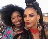 Taís Araújo encantada com beleza estonteante e voz de Pérola