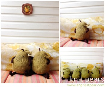 angry pear-knit pears
