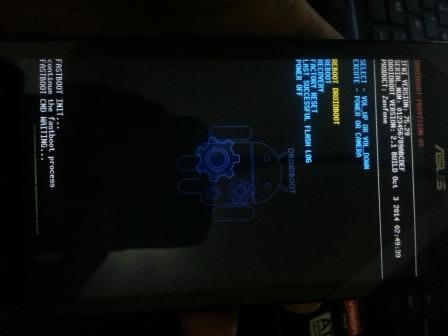 Débloquer le bootloader du Zenfone 5
