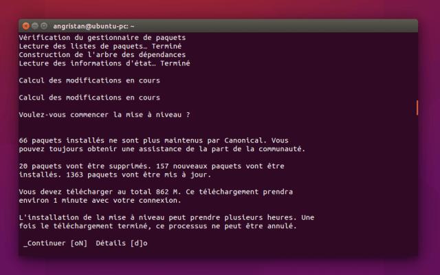Mettre à jour Ubuntu 14.x ou 15.x vers la 16.04 LTS