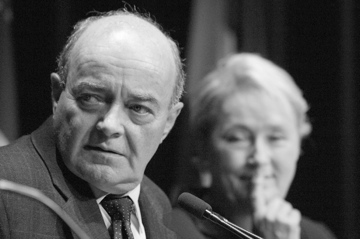 Ghislain Lebel and Pauline Marois