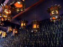 Lanterns and buddhas at Negoroji in Takamatsu.