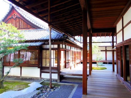 View of Kenninji, a Zen temple in Kyoto.