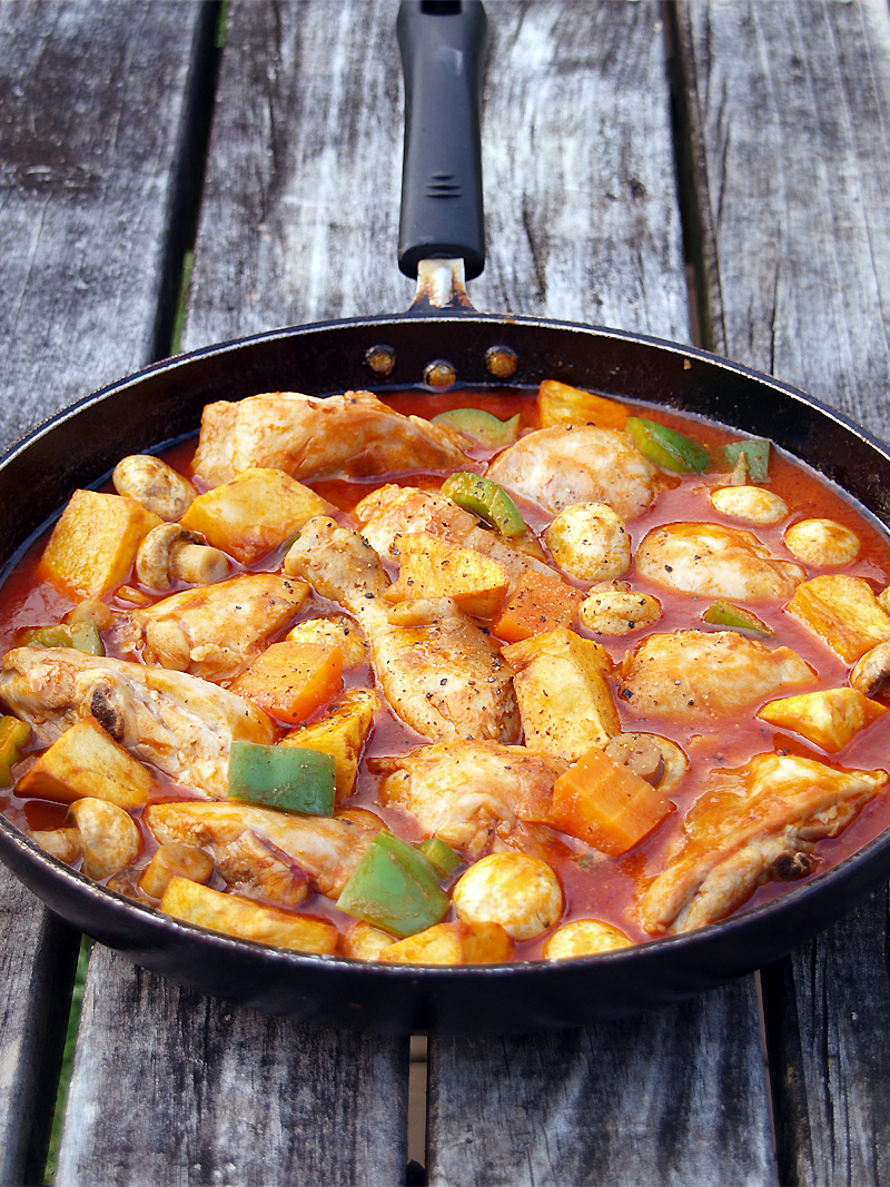 Chicken afritada ang sarap afritada is a spanish inspired dish which can be cooked with pork beef or chicken slowly simmered in tomato sauce and potato this recipe is so simple forumfinder Gallery