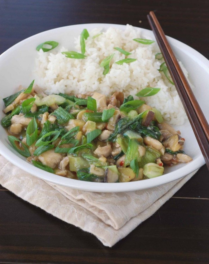 Oyster Sauce Chicken with Bok-Choy