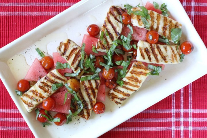 Watermelon and Haloumi Salad Wide