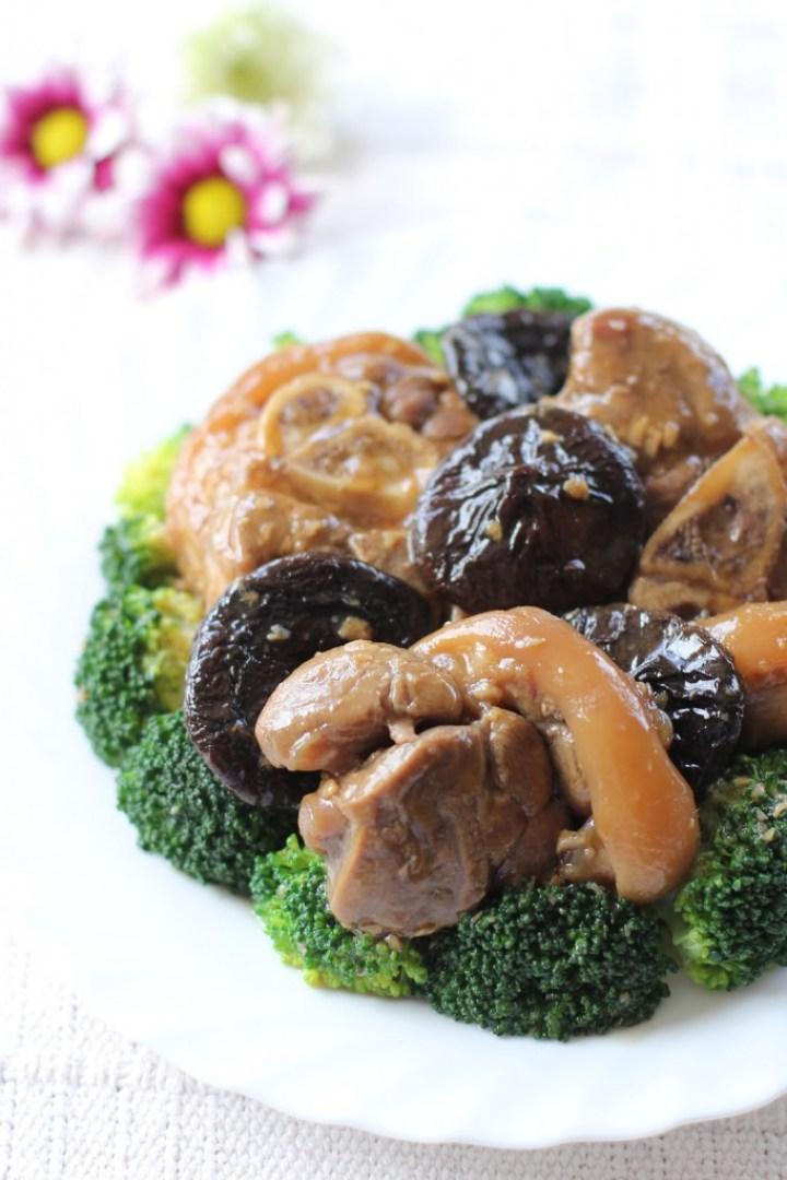 Braised Pork Hock and Broccoli
