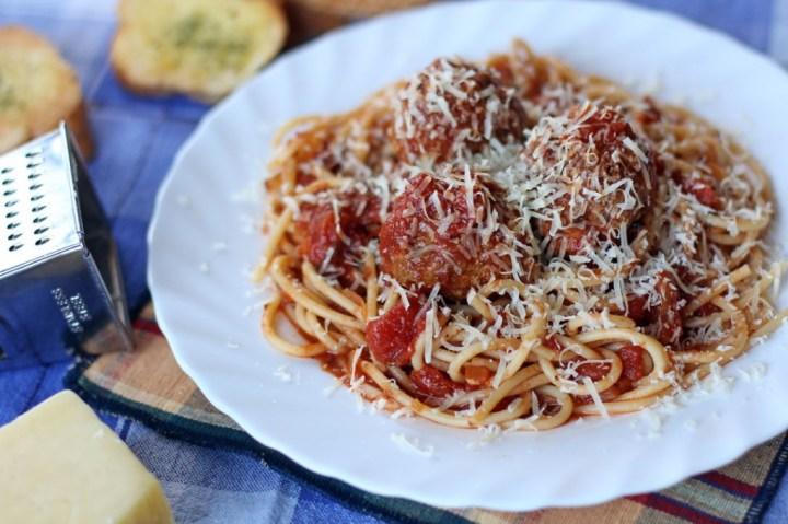 Spaghetti Meatballs Wide