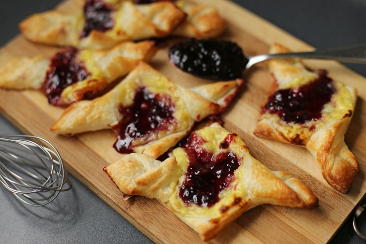 Blueberry and Custard Danish Wide