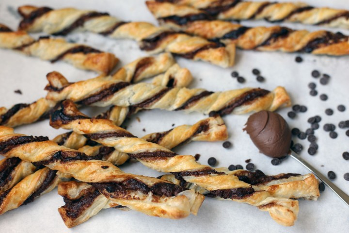 Nutella and Chocolate Chips Twist Wide