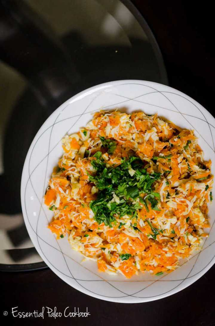 Carrot Crab Hash with Ginger and Cilantro