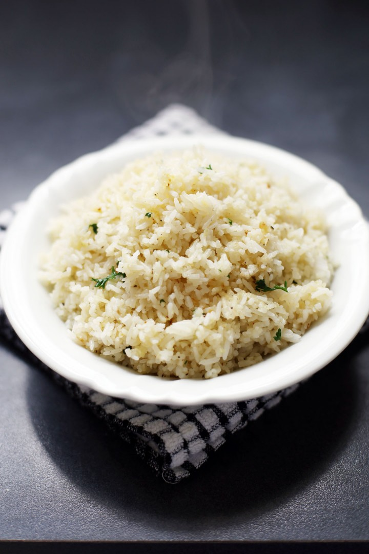 Butter Garlic Herb Rice