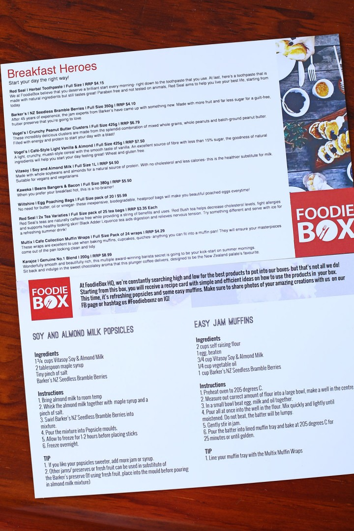 Foodie Box Recipe