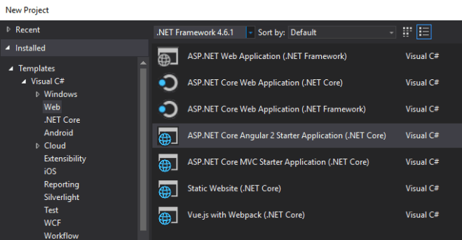 ASP.NET Core Template Pack - Angular Starter
