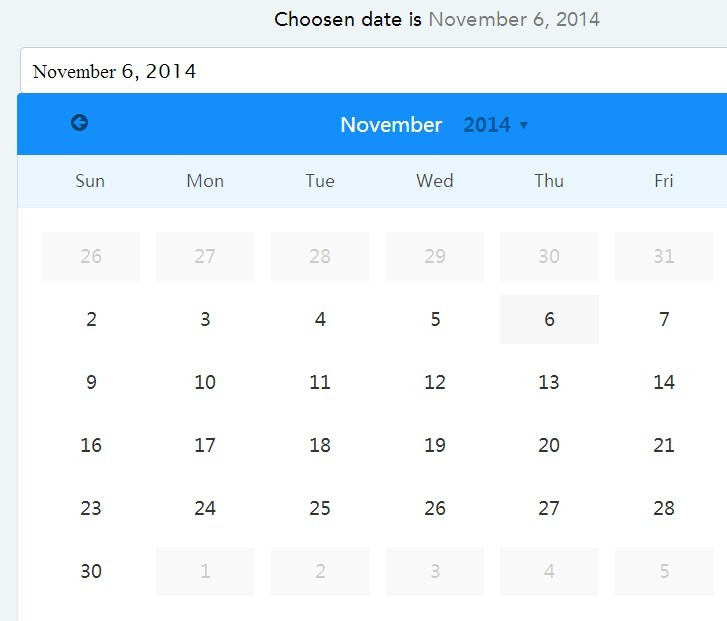 Pretty Input Based Date Picker Directive with AngularJS