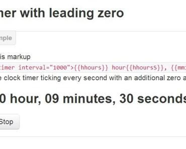 Timer with leading zero