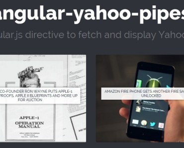 angular-yahoo-pipes Demo