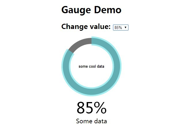 Nice and Simple Gauge Chart with AngularJS and Raphaël js