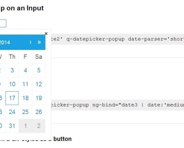 qDate Datepicker Popup on an Input