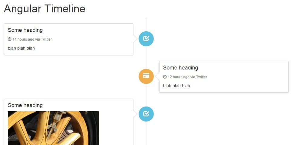 Angular Timeline With Bootstrap