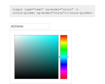 Lightweight Color Picker Component For Angular