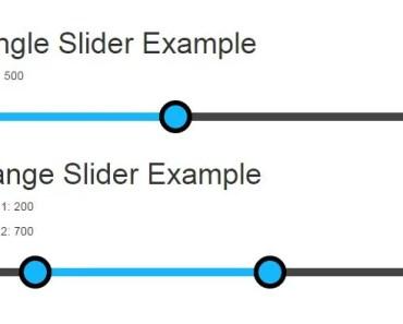 Native AngularJS Directive For Range Slider Input