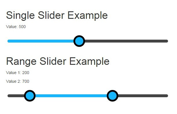 Native AngularJS Directive For Range Slider Input | Angular