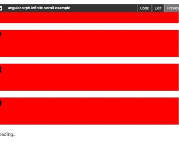 Simple Lightweight Infinite Scroll For AngularJS Basic