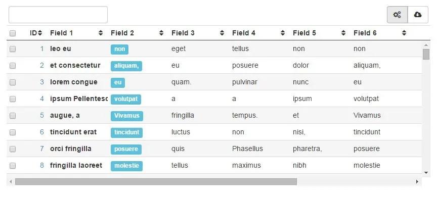Sortable & Resizable Angular Data Grid Directive | Angular Script