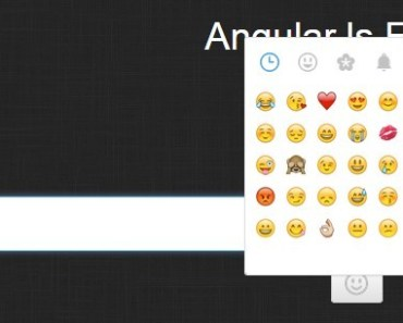 Angular Based Emoji Popup