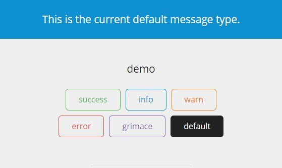 ng-notify Default Message