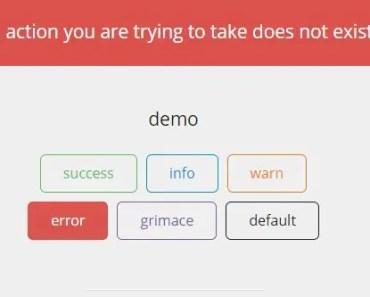 ng-notify Error Message